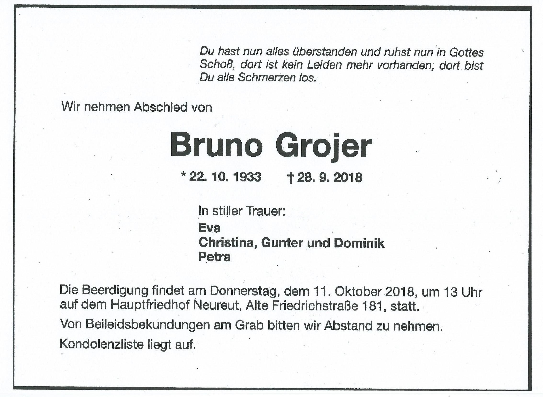 Herr Bruno Grojer War Beim FA Karlsruhe StV Re